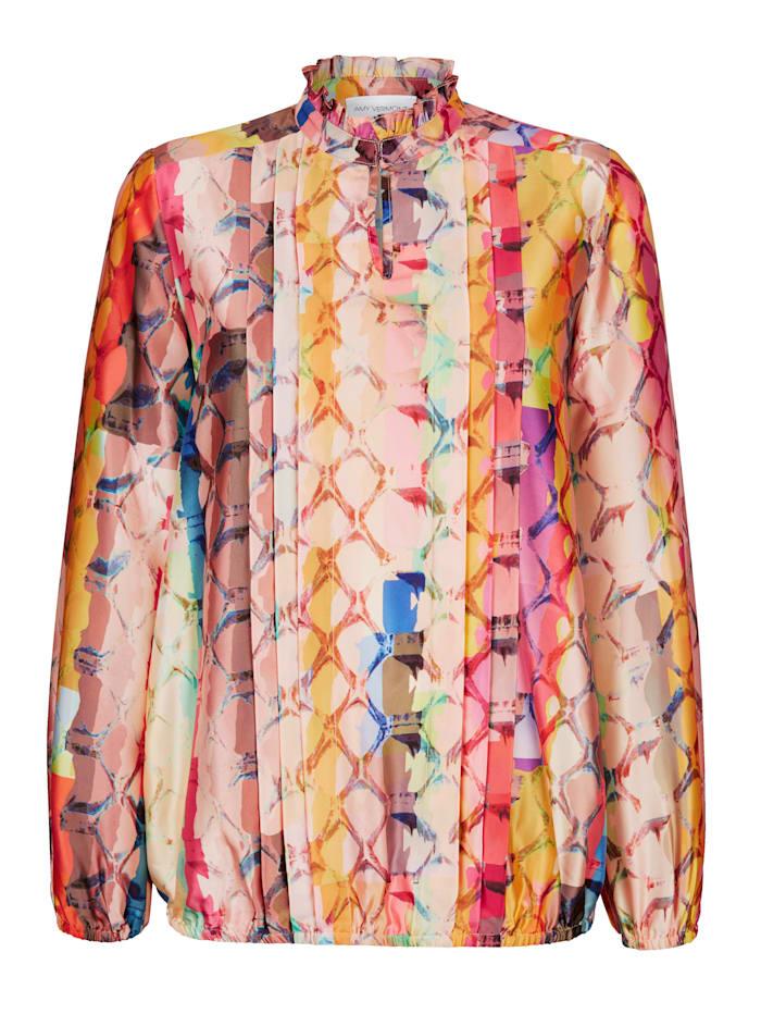 Bluse mit farbenfrohen Schlagendruck