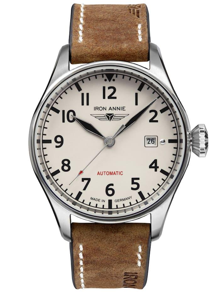 Iron Annie Herren-Armbanduhr Flight Control Automatik 5162-3, beige