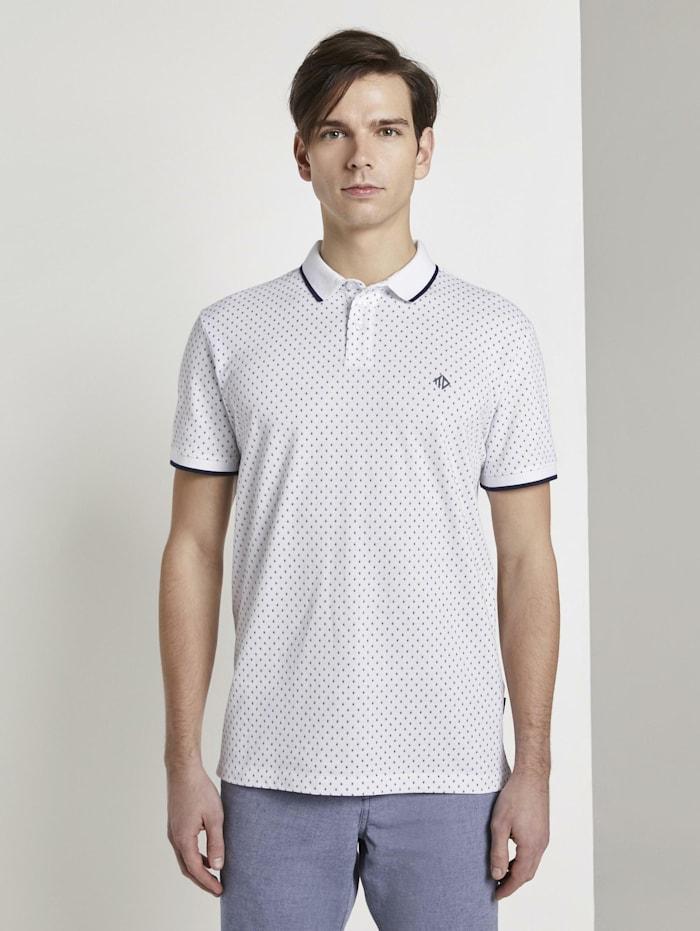 Poloshirt mit Alloverprint