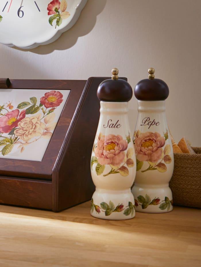 """Nuova Ceramica Artisan Keraaminen suolamylly """"Orto d´Autunno"""", monivärinen"""