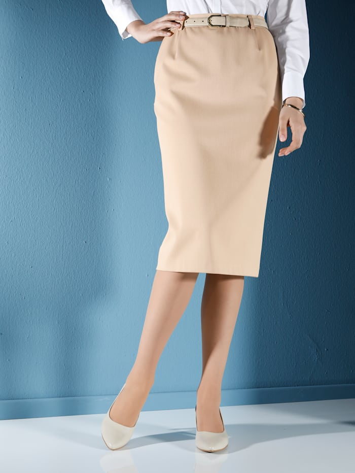 m. collection Rok met elastisch materiaal, Camel
