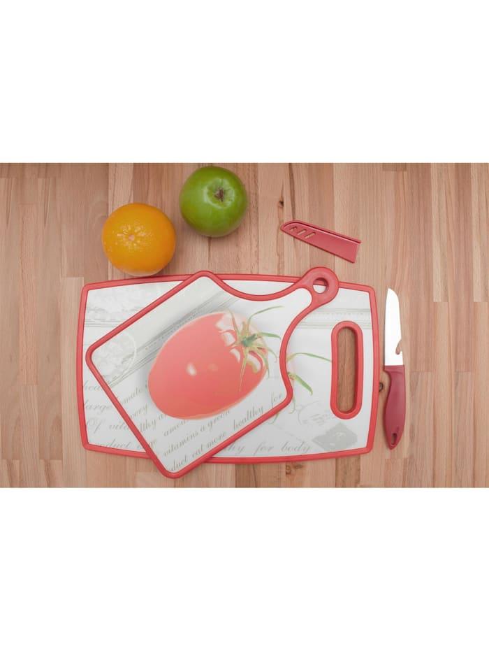Neuetischkultur Schneidbrett 3-tlg. NTK Tomate, Rot, Weiß
