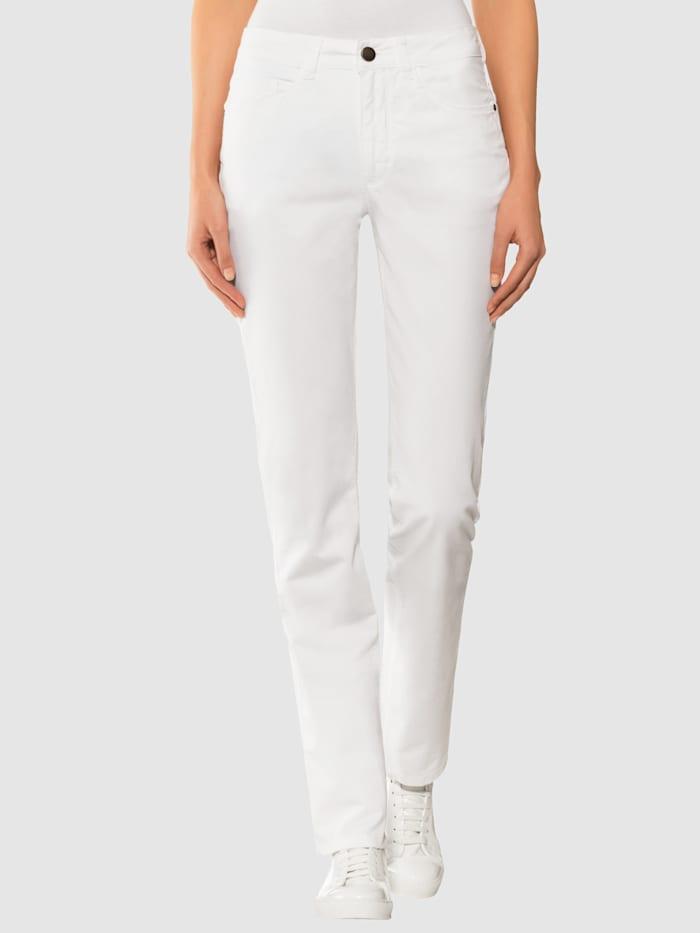 Alba Moda Jeans mit geradem Beinverlauf, Weiß
