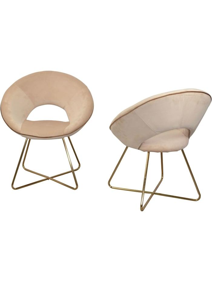 Möbel-Direkt-Online Samt-Polsterstuhl (2Stück) Nora, beige