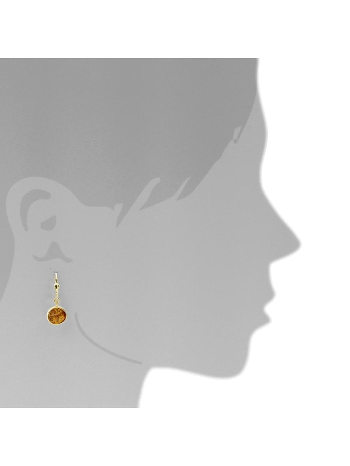 Ohrhänger - Classic 10 mm - Gold 333/000 - Bernstein