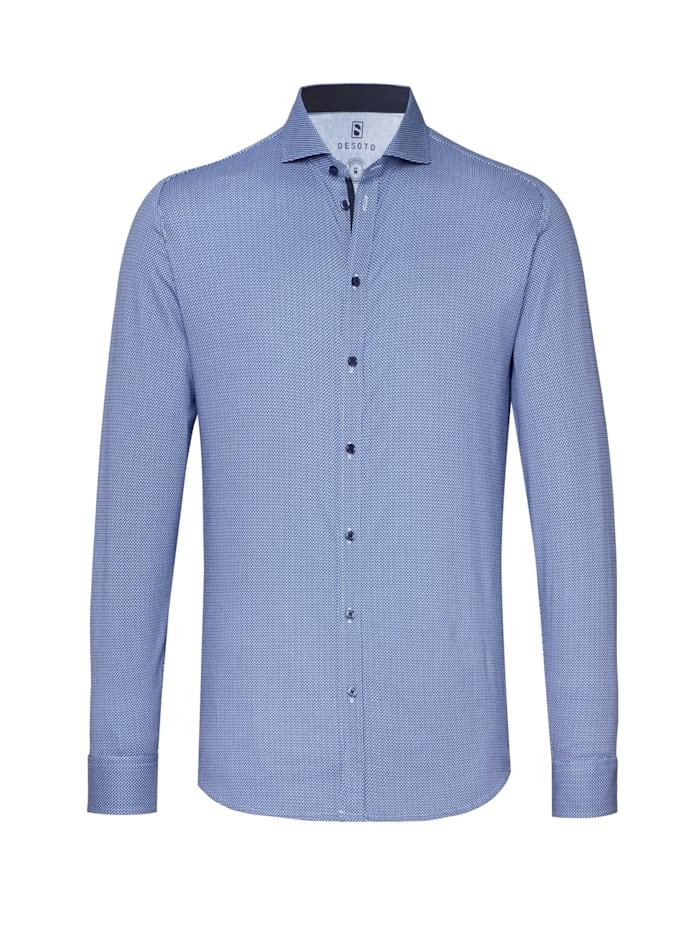 Desoto Jerseyhemd New Hai Langarm, blue origami