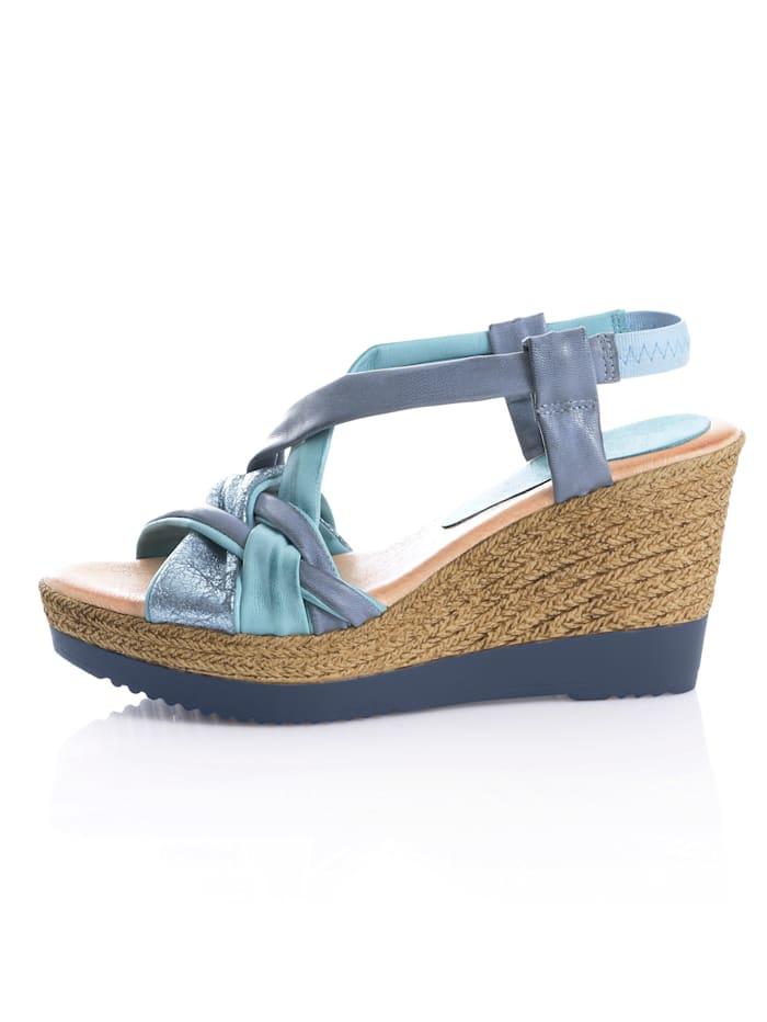 Sandalette mit bequemen Keilabsatz