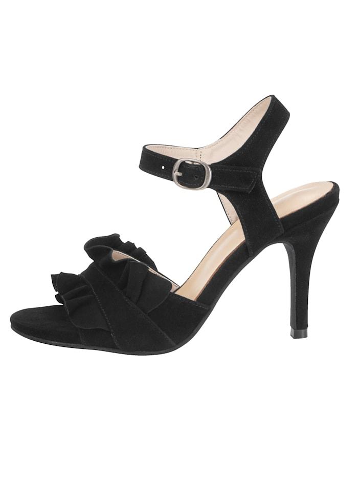 Sandale mit verspielter Volant-Verzierung