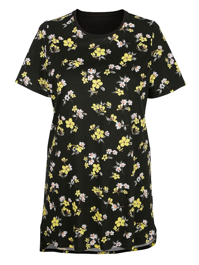 Nachthemden im 3er-Pack mit floralen Druckmotiven