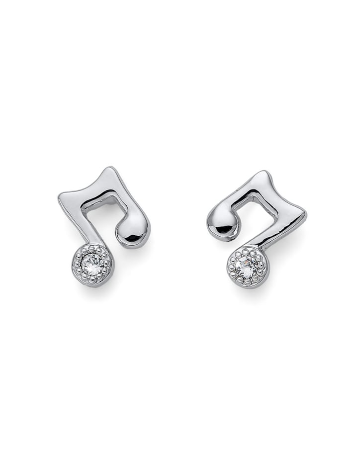 Oliver Weber Ohrstecker Music double, weiss
