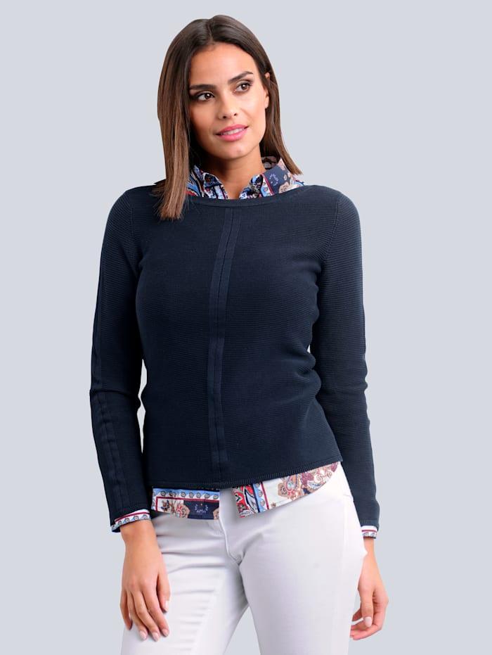 Alba Moda Pullover aus hochwertiegr Pima Baumwolle, Marineblau
