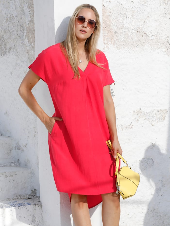 MIAMODA Kleid mit Leinen-Anteil, Rosé