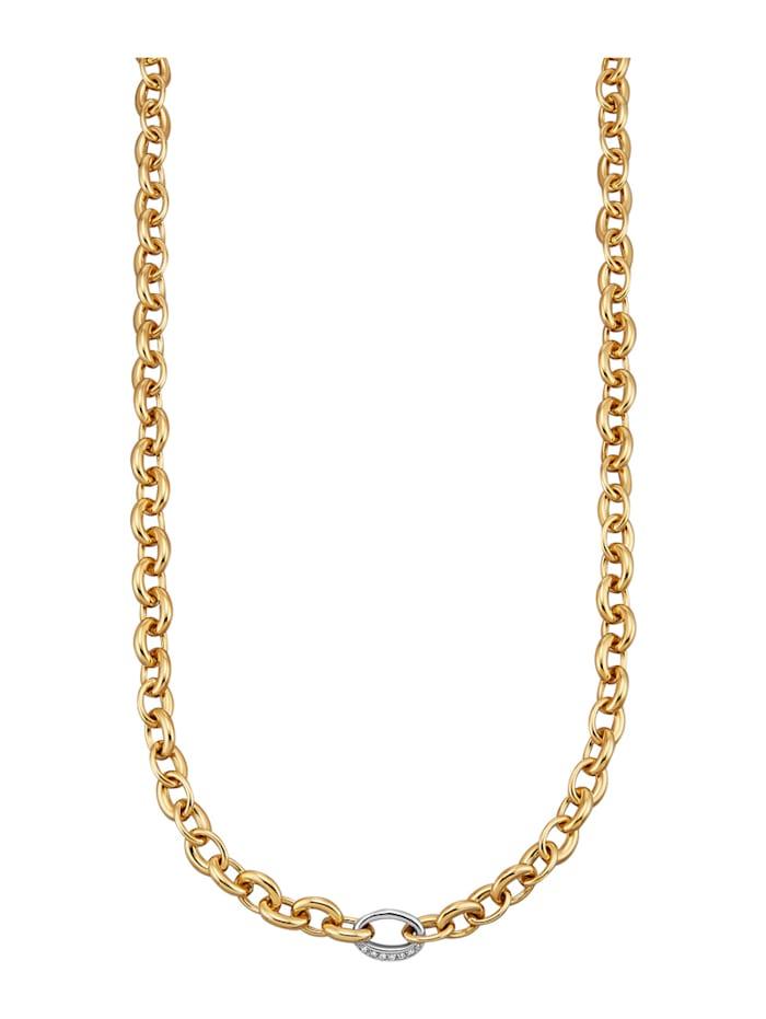 Diemer Diamant Halsband med briljanter, Guldfärgad
