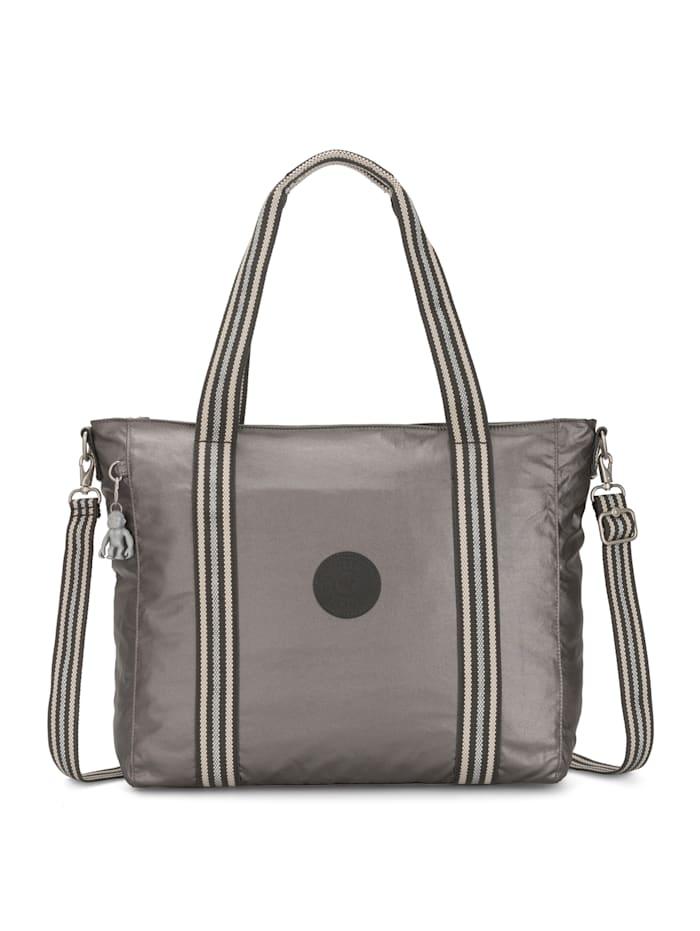 Kipling Basic Plus Asseni Shopper Tasche 49 cm, carbon metallic