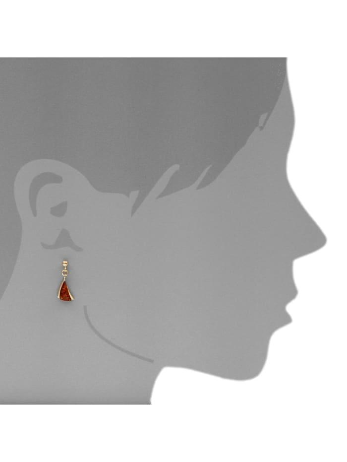 Ohrhänger - Imke - Silber 925/000, vergoldet - Bernstein