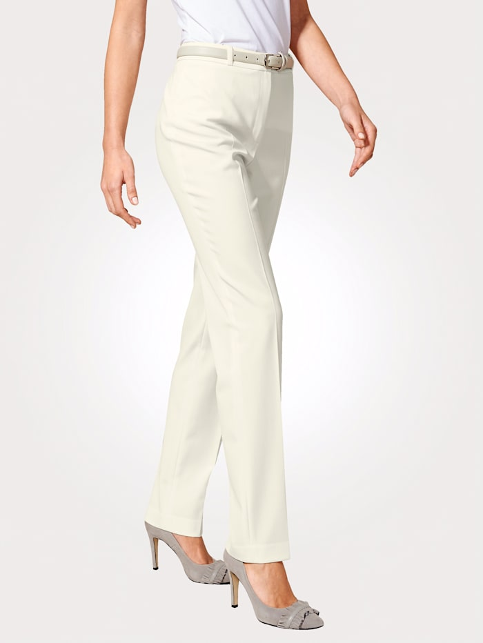 Artigiano Wool-blend trousers with a hint of stretch, Cream White