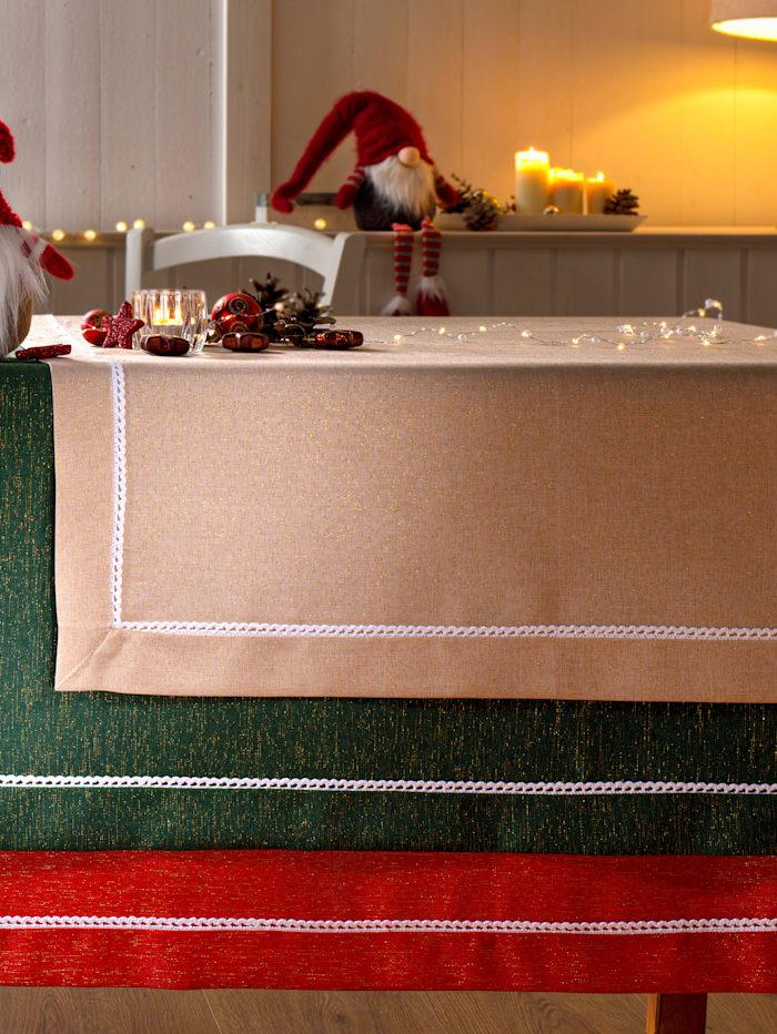 Webschatz Tischwäsche 'Esther', beige