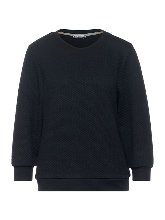 Street One Sweatshirt mit Strukturoptik, dark blue