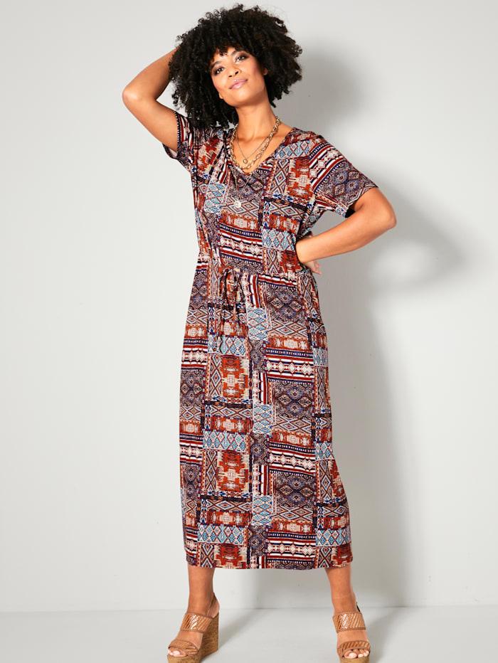Angel of Style Kleid mit grafischem Druck, Multicolor