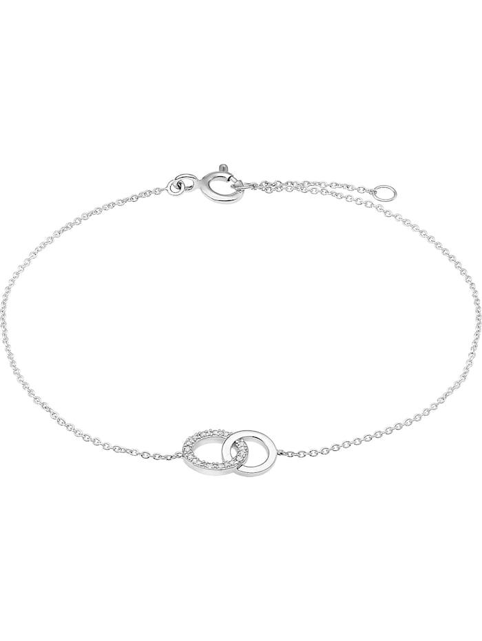 CHRIST Diamonds CHRIST Diamonds Damen-Armband 375er Weißgold 4 Diamant, silberfarben