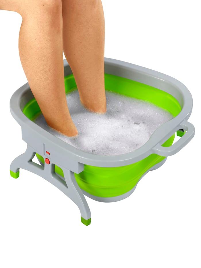 Opvouwbaar voetbad voor verzorgde voeten, groen/grijs