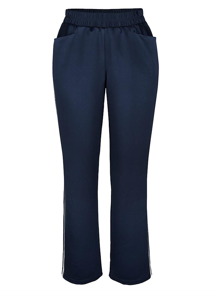 Pantalon avec bande fantaisie brillante sur les côtés
