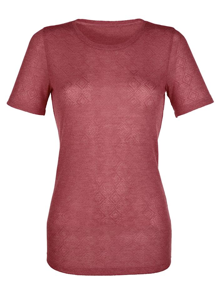 Laura Kent Shirt in strukturierter Qualität, Rot