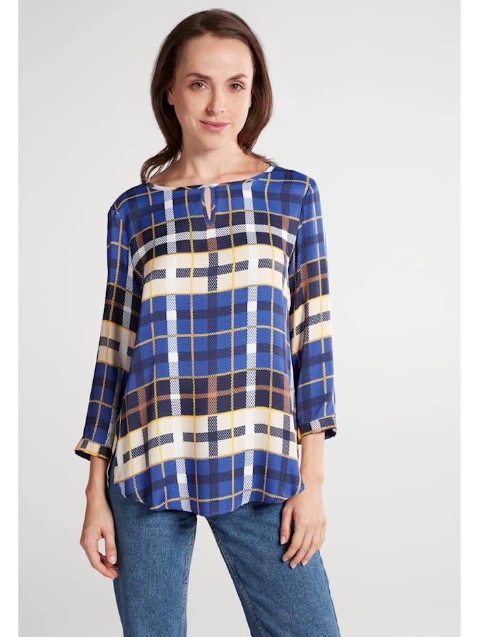 Eterna Eterna Dreiviertelarm Bluse MODERN CLASSIC, blau