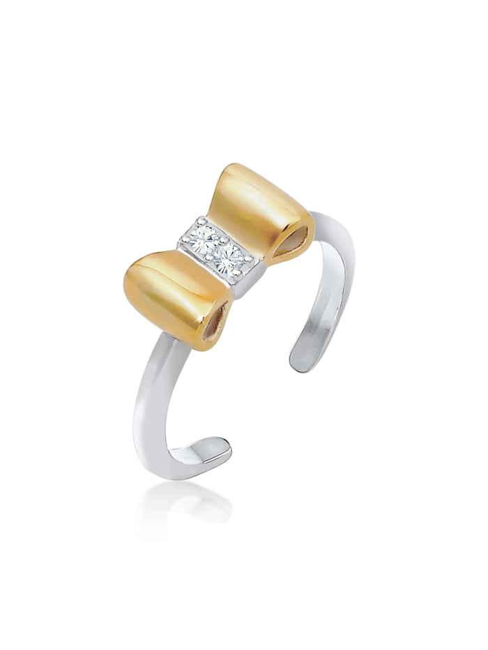 Elli Ring Kinder Schleife Kristalle 925 Silber, Silber