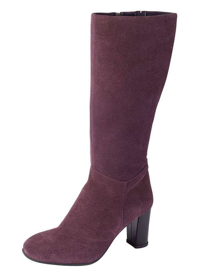 WENZ Stiefel aus feinem Veloursleder, Beere