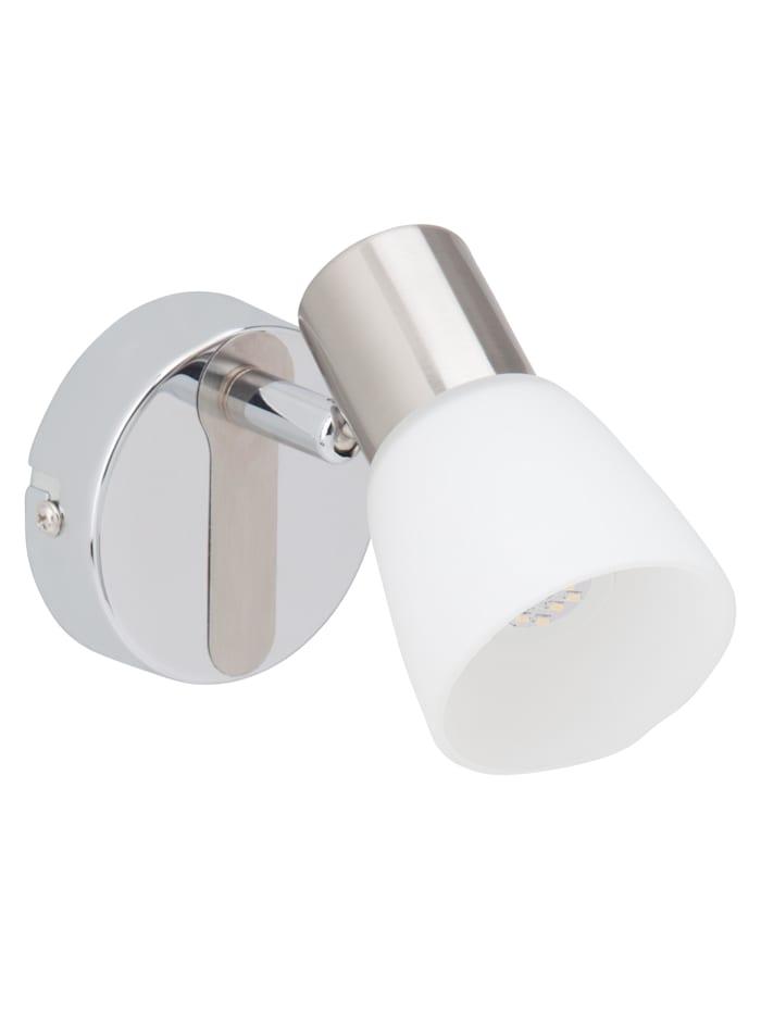Janna LED Wandspot eisen/chrom/weiß