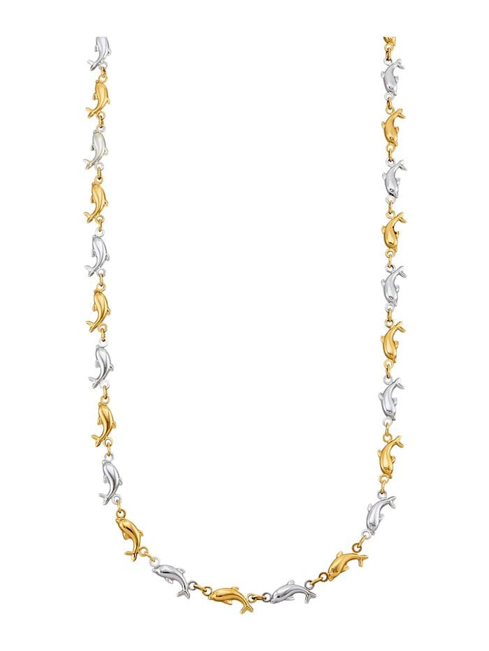 Amara Or Collier dauphin en or jaune 585, Coloris or jaune