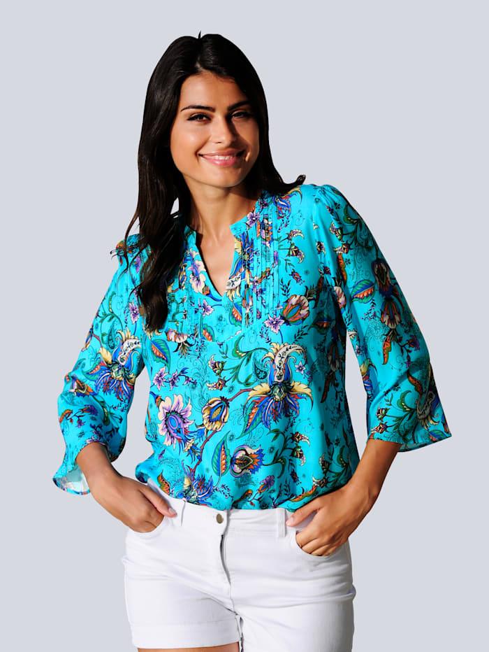 Alba Moda Tuniek in zomerse kleuren, Turquoise