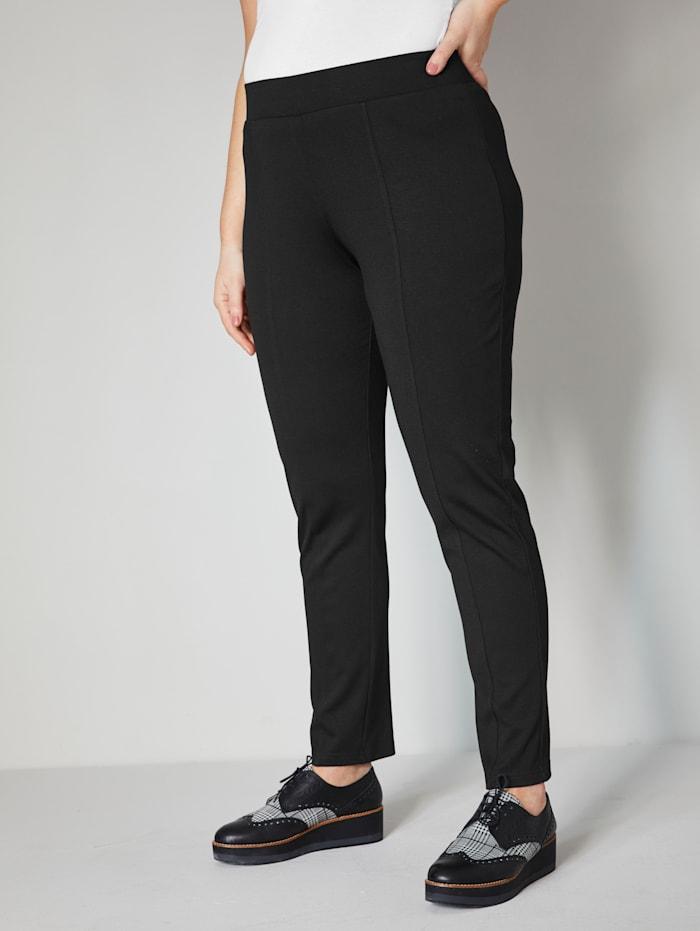 Janet & Joyce Jerseyhose mit elastischem Bund, Schwarz