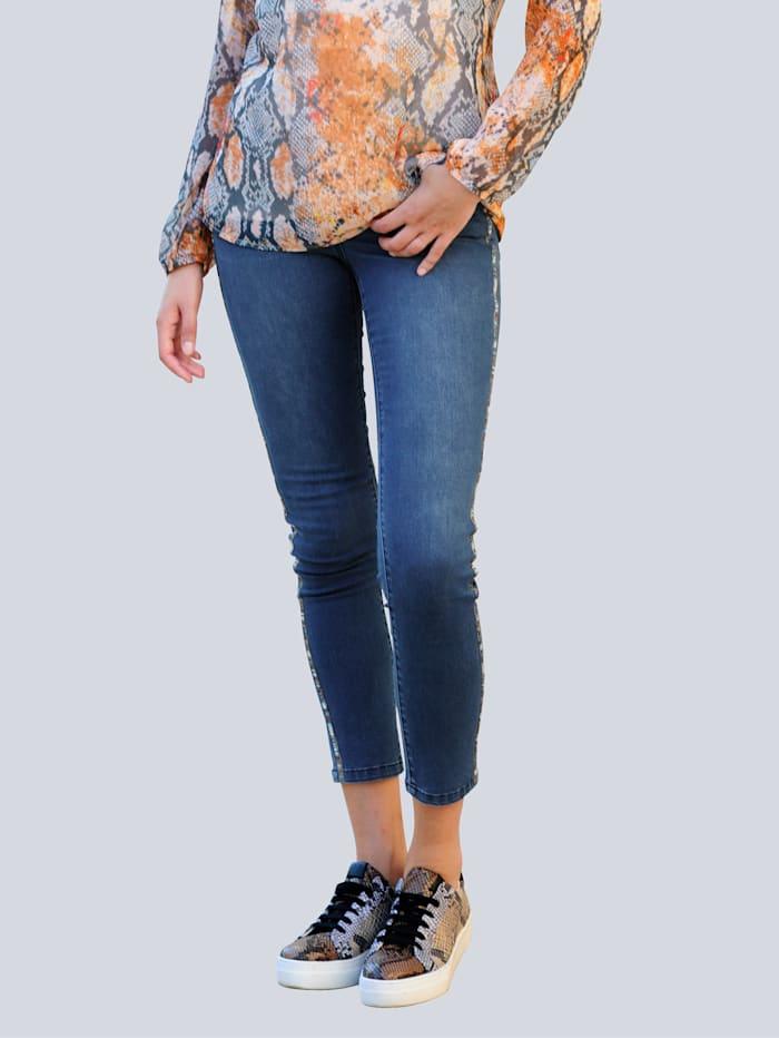 Alba Moda Jeans mit Schmuckband, Blue stone