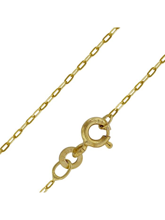 trendor Halskette für Frauen Gold 333 (8 Karat) Flachanker 1,1 mm, Goldfarben