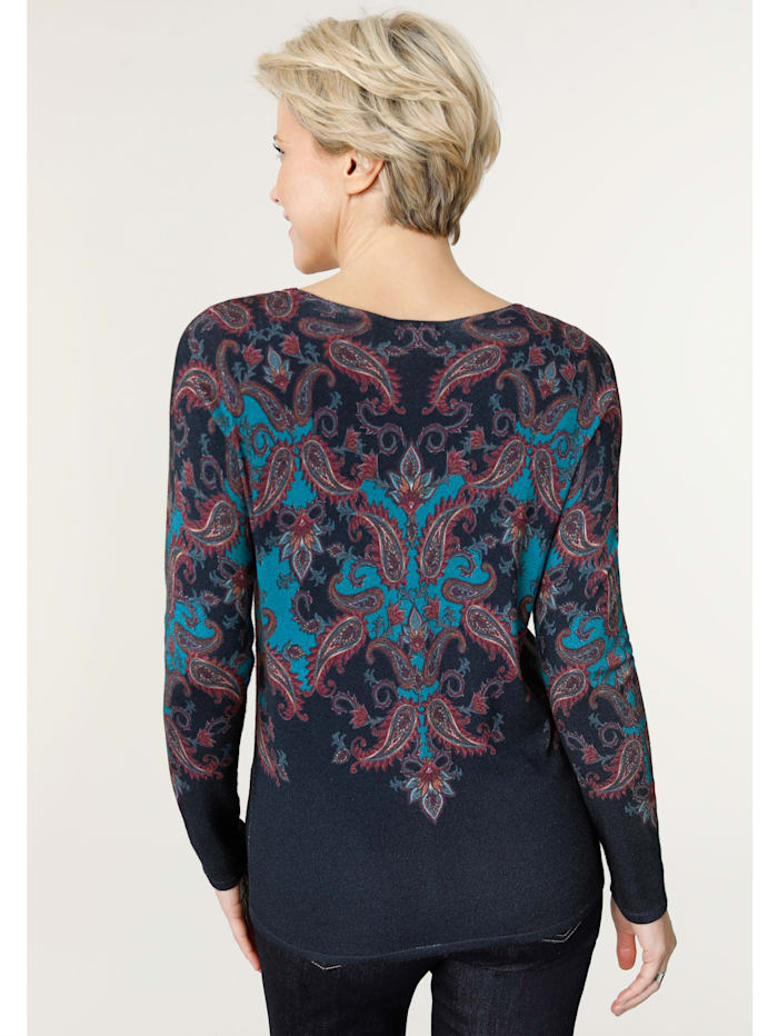 Jumper with a paisley print