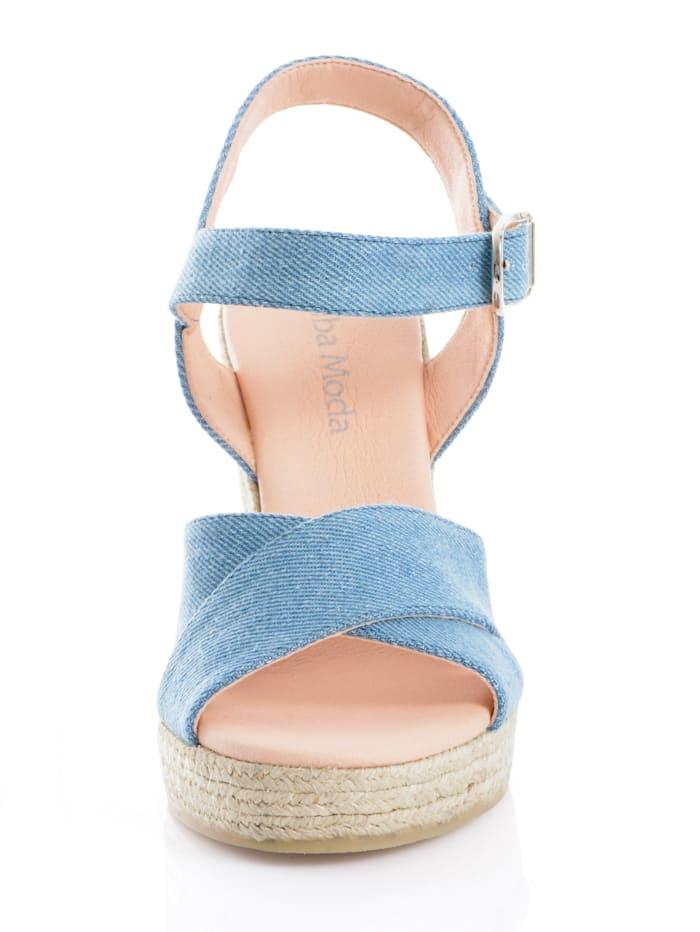 Sandalette in Jeansoptik