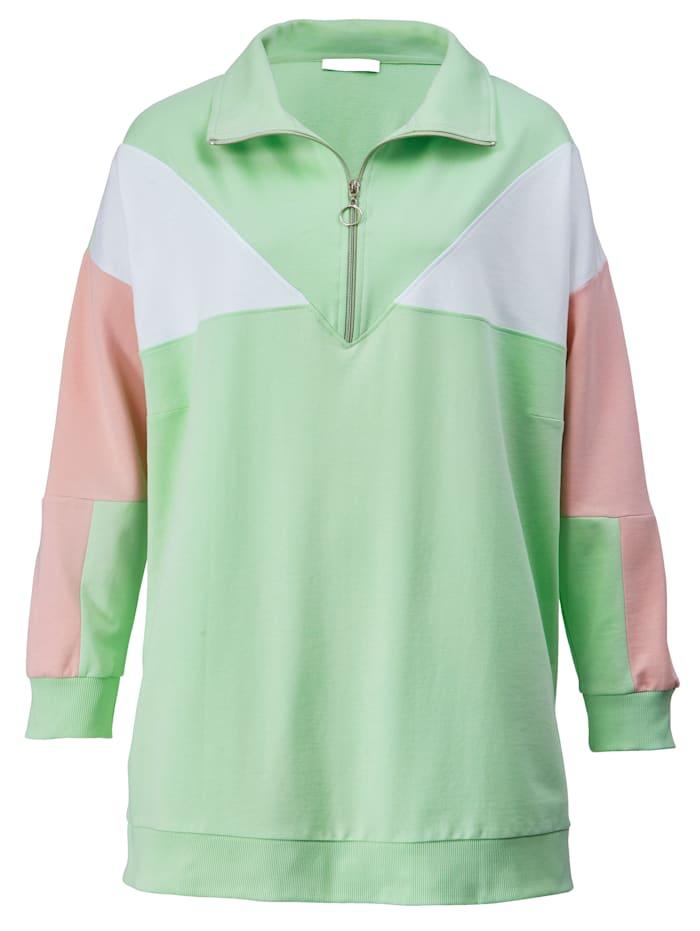 Sweatshirt met rits aan de hals