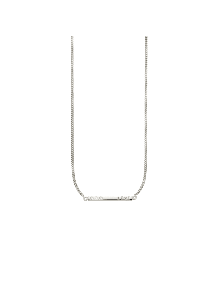 CAI Collier 925/- Sterling Silber Zirkonia weiß 39+3cm rhodiniert, weiß