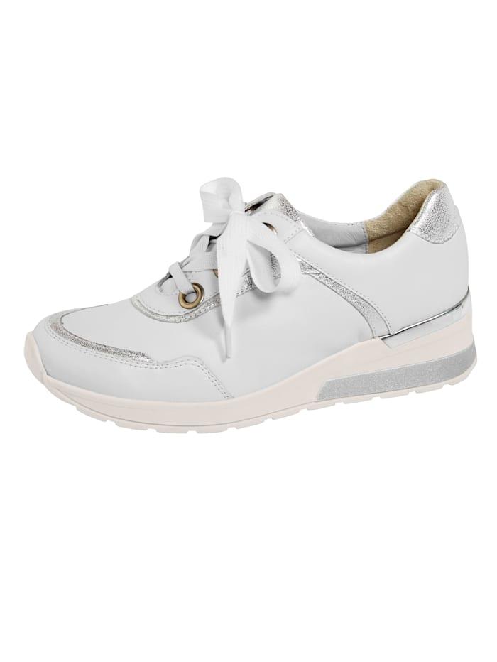 Waldläufer Šnurovacia obuv s podrážkou so vzduchovým vankúšikom, Biela