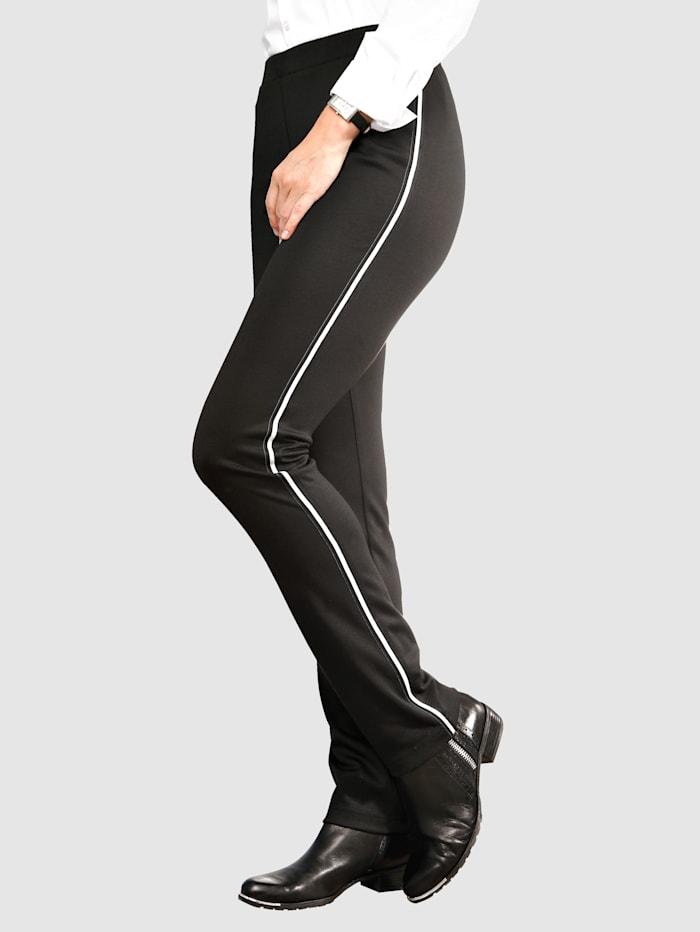 Laura Kent Pantalon coupe Lotta slim, Noir