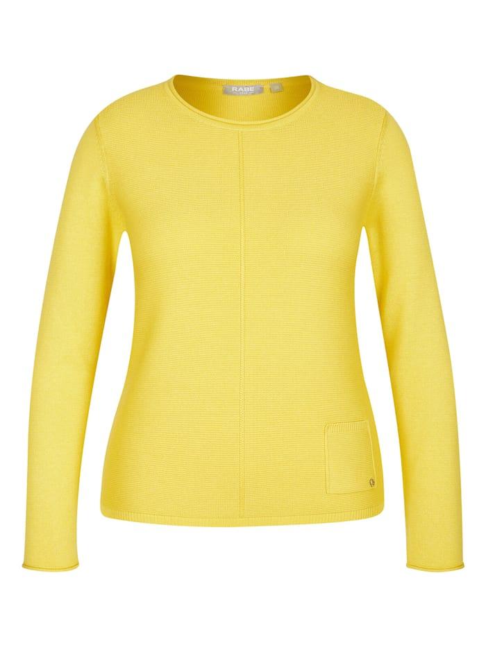 Rabe Pullover im Uni-Design mit Rollsäumen, ANANAS