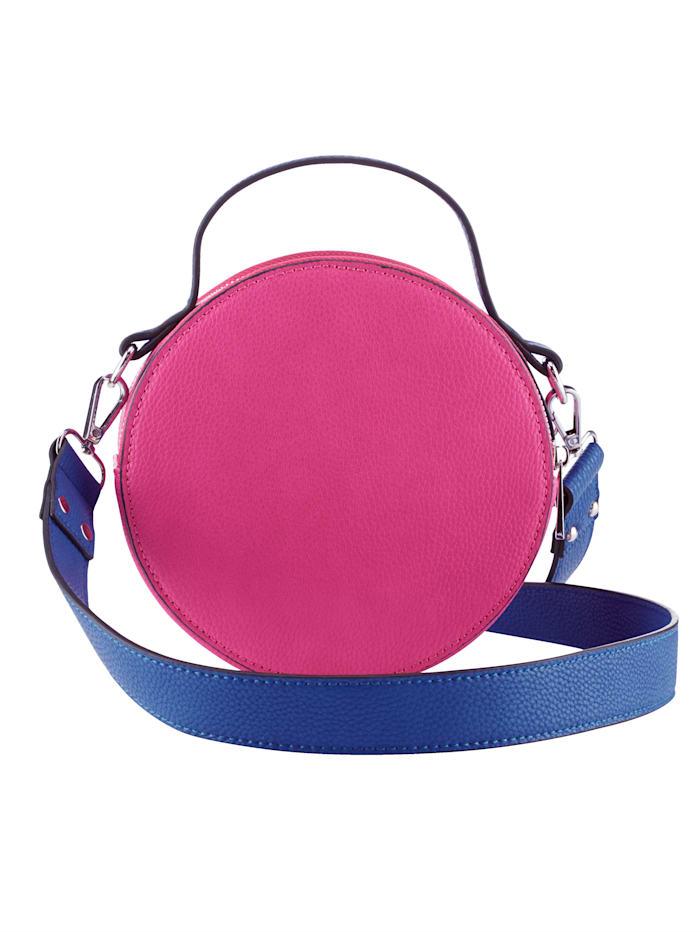 Collezione Alessandro Umhängetasche in moderner Form, pink/royalblau
