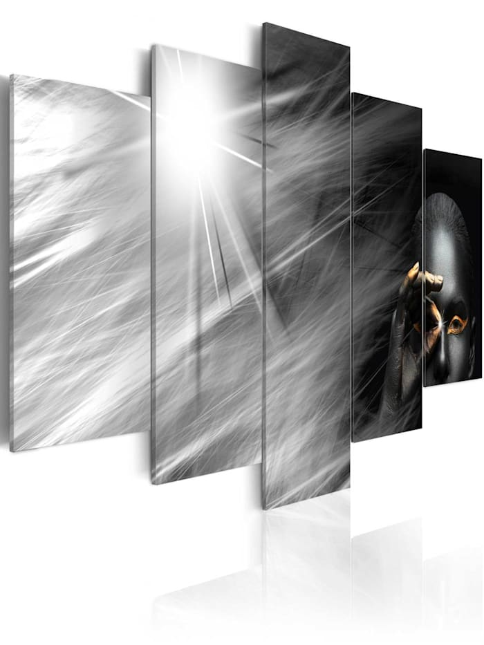 artgeist Wandbild Gold eye, Schwarz,Gold,Grau,Weiß