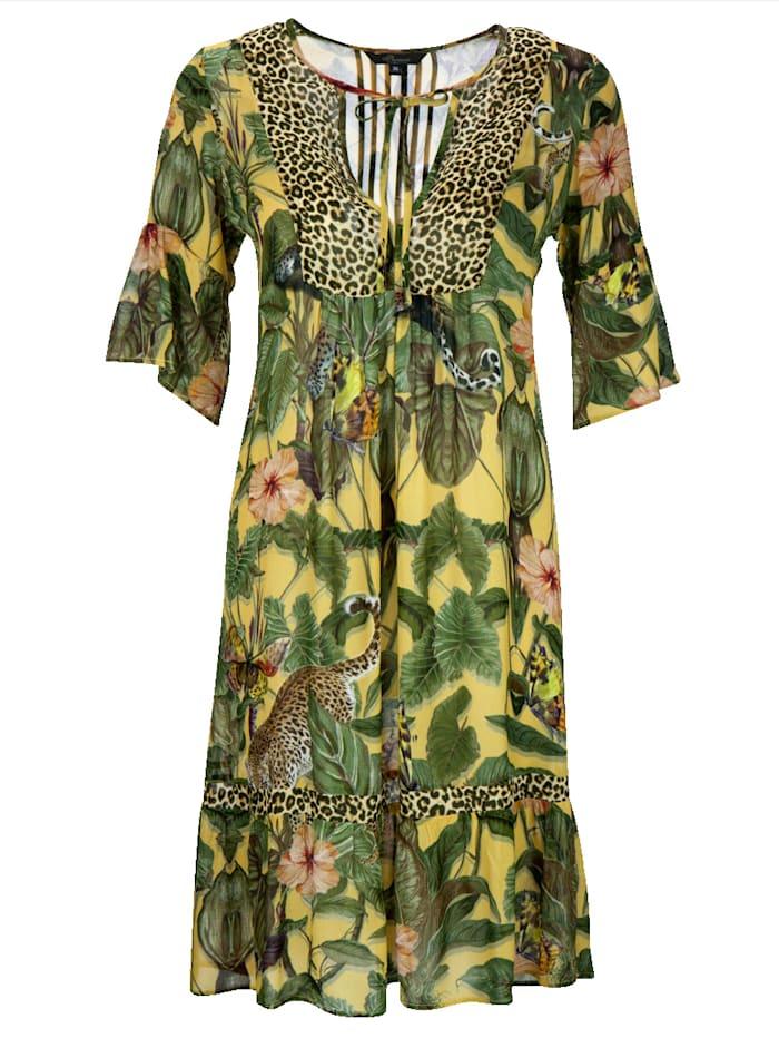 Kleid im farbenfrohen Blumenprint