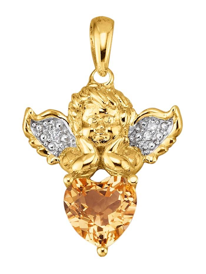 Diemer Trend Engel-Anhänger in Silber 925, Gelb