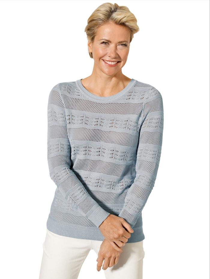 Pullover aus effektvollem Ajour-Strick