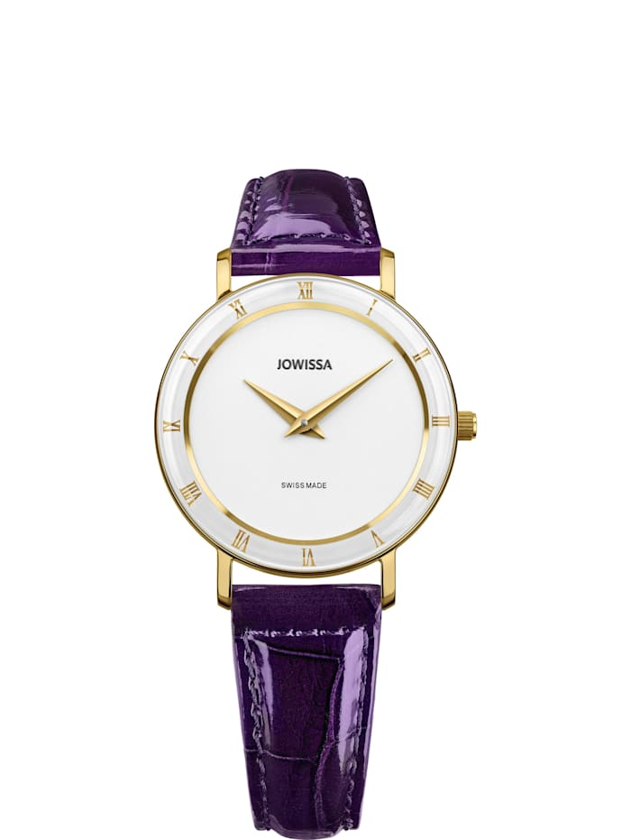 Jowissa Quarzuhr Roma Swiss Ladies Watch, violett