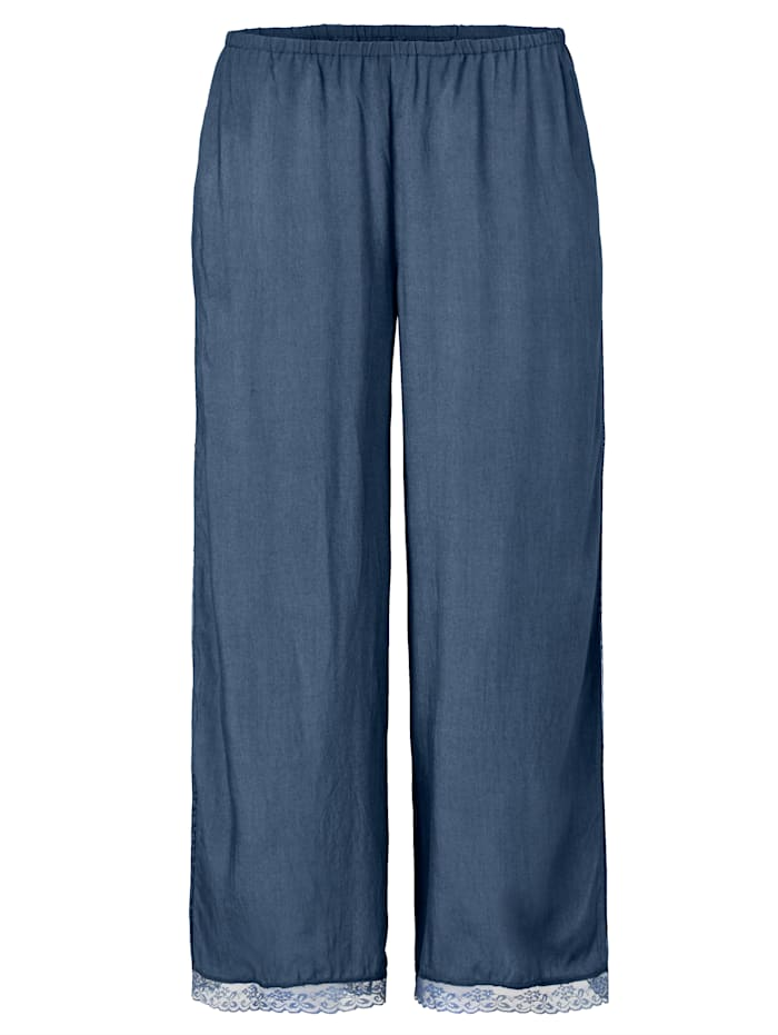 Mellow Peach Pyjama-Hose mit Spitze, Petrol